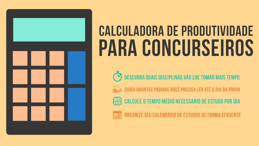 Calculadora de produtividade para concurseiros