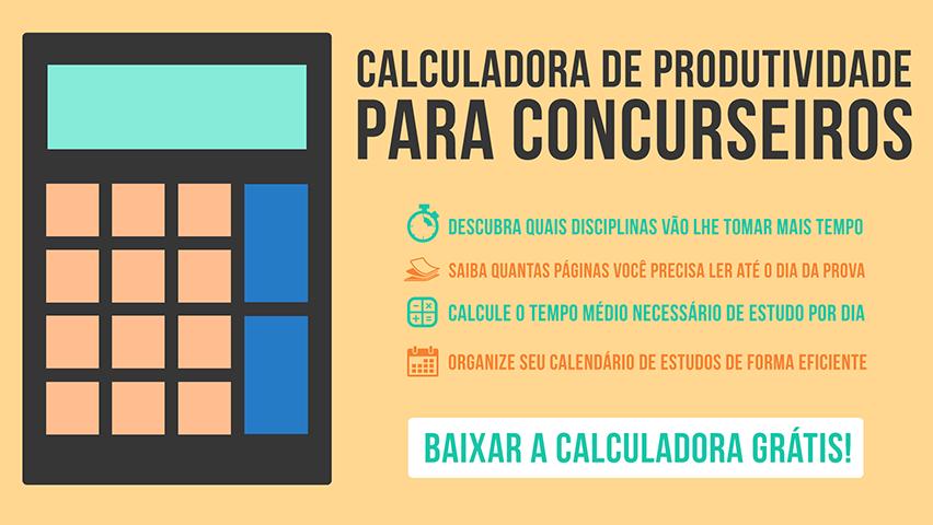 Download calculadora de produtividade para concurseiros
