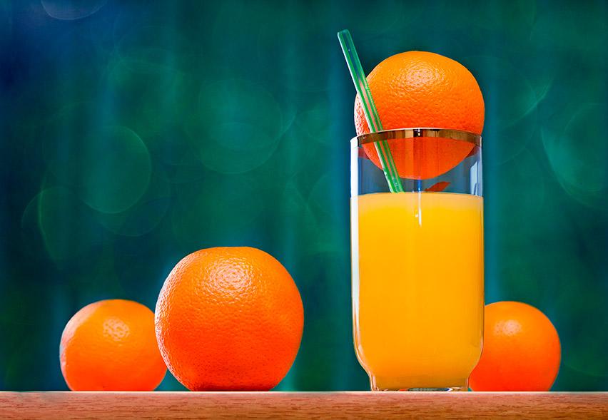 Suco de laranja para concurseiro