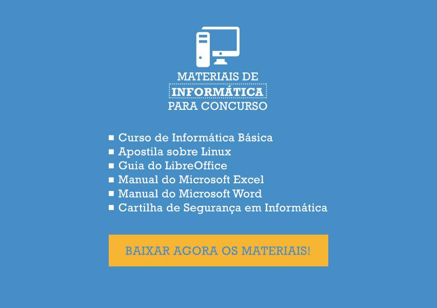 Materiais informática para concursos