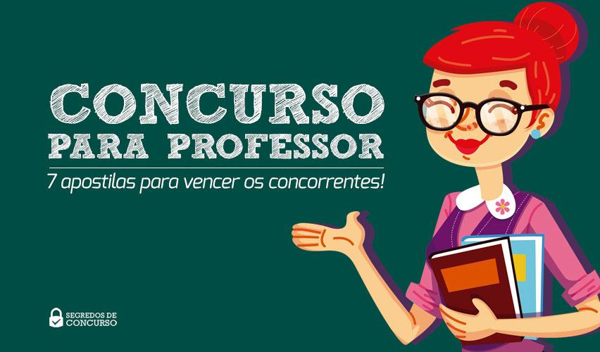 Concurso para professor 7 apostilas para vencer os for Concurso profesor