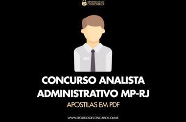 Concurso Analista Administrativo MP-RJ – Apostilas em PDF e dicas!