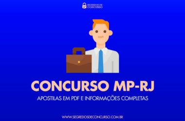Concurso MP-RJ: apostilas em PDF, e informações completas!